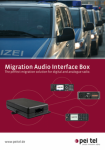 Migration Audio Interface Box pei tel